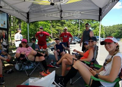 Post Race Team Relaxation